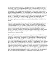 essay about malcom x 2016-5-25 our history jackie robinson vs malcolm x how two civil rights icons waged a public, ideological feud through op-eds and public speeches.