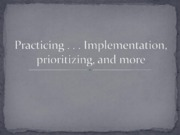 Practicing implementation ETC columbia