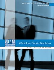 Posthuma - Workplace Dispute Resolution_Instructor's Manual_FINAL