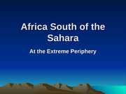 Africa South of the Sahara 2014