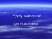 2012.10 Property Transactions