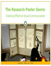 4-20 - The Research Poster Genre - Creating Effective Visual Communication.pptx