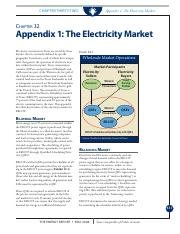 Comptroller's Energy Report Appendix 1 Electricity Market(1)