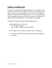 ENGG 201 - Fall 2011 - Chapter 8 - Fluid Flow Example Problem From Class.pdf