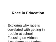 Race and School Discipline
