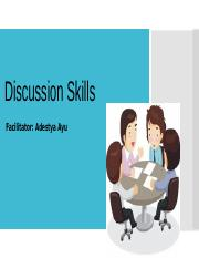 Meeting 4-Discussion skills