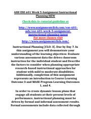 ASH ESE 601 Week 5 Assignment Instructional Planning NEW.doc
