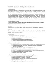 MAFS5030_CourseOutline_2014