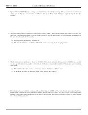 MATH 1300 Finance Assorted Problems (1)
