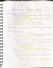 Study Guide Midterm 1 Sociology