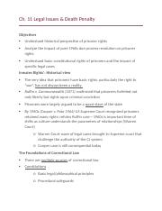 Ch. 11 Legal Issues & Death Penalty.docx