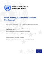 Undated Peace-Building, Conflict Prevention.pdf