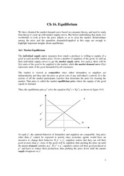 Intermediate Microeconomics Ch16 notes