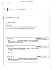 Take Test_ W8 Final – IS355 Risk Management