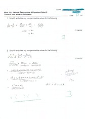 rational expressions and equations quiz 2