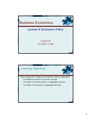 Lecture 6 - Government Plocy, Fiscal Policy [Compatibility Mode]