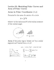 F13L33_Sketching and Area of Polar Curves I
