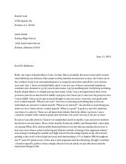 A.P. Business Letter