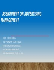 Assignment on Advertising Management..pptx