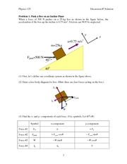 Application of Newton's Laws Answers
