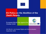 articles-Annex I Powerpoint Presentation EU Policy against Death Penalty - final-1255096476