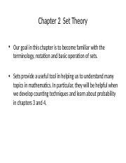 Chapter 2 Set Theory