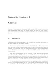 Lecture01-Crystal