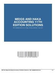 meigs-and-haka-accounting-11th-edition-solutions