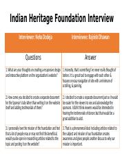 Indian Heritage Foundation Interview Questions.pptx