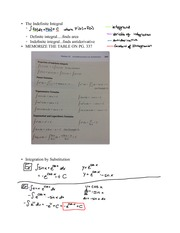 Chapter 7.2- Integration by Substitution