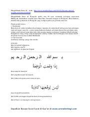 4 Pdf Surat Al Waqiah Arab Latin Amp Terjemahpdf