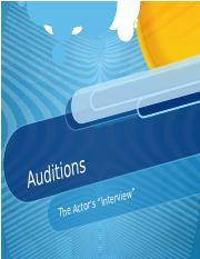 The Audition Process