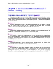 Chapter 1   Environment and Theoretical Structure of Financial Accounting