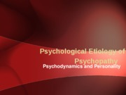 Psychology of Psychopathy