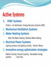6-Energy Design Active  Systems