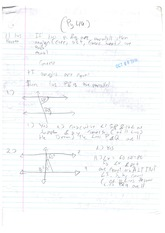 Class Note Lines Theorem