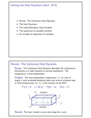 Solving the Heat Equation