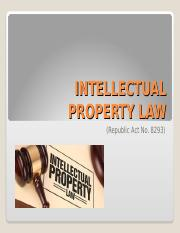 INTELLECTUAL PROPERTY LAW.ppt