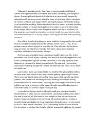 Essay - Benefits Of Getting Our Body Health.docx