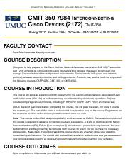 Concourse | CMIT 350 7984 Interconnecting Cisco Devices (2172)