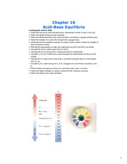 Study Guide on Acid-Base Equilibria