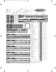 Pathfinder Character Sheet Fillable - 3-Page Zumii v2 5 2