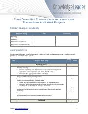 Fraud Prevention Process – Debit and Credit Card Transactions – Audit Work Program (1).docx