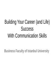 CH1-W2 Building Your Career (and Life) Success With Communication Skills 03.10.13