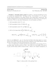 Physics 2.71 Pset 7 Solutions