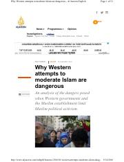 Al-Arian_A_Why Western Attempts to Moderate Islam_2016
