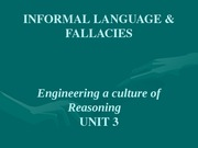 UNIT 3 - Informal Language & Fallacies