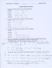 ... and Balancing Chemical Equations Worksheet - Answer Key - WRITING