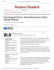 Corrugated box manufacturers face bleak future _ Business Standard News.pdf