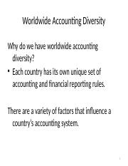 Global Accounting Standards